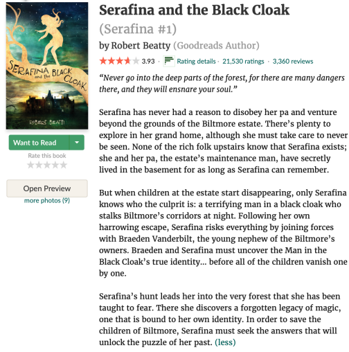 Serafina Review from Goodreads.com